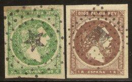 España Edifil 160/161 (º) Serie Completa Carlos VII 1875 NL1515 - 1873-74 Regencia