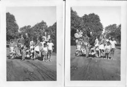 MOTO MOTORBIKE MOTORCYCLE Lambretta 125 Cc & Children - Lot Of 2 Photos 10x7cm Ea 1970' - Ciclismo