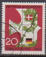 BRD 1963 MiNr.399 Einweihung Der Vogelfluglinie Deutschland - Kopenhagen ( A676 ) Günstige Versandkosten - BRD
