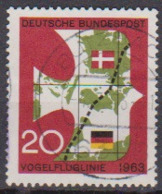 BRD 1963 MiNr.399 Einweihung Der Vogelfluglinie Deutschland - Kopenhagen ( A677 ) Günstige Versandkosten - BRD