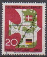 BRD 1963 MiNr.399 Einweihung Der Vogelfluglinie Deutschland - Kopenhagen ( A678 ) Günstige Versandkosten - BRD