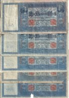 ALLEMAGNE 100 MARK 1910 VG/VG+ P 42 ( 5 Billets ) - 100 Mark