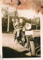 Old MOTO MOTORBIKE MOTORCYCLE & Children - Photo Snapshot 9x6cm 1940' - Ciclismo
