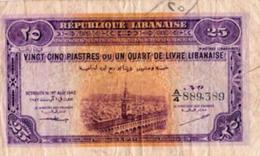 Republique Libanaise 25 Piastres 1942 - Libanon