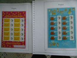 FRANCE  TIMBRES PERSONNALISES Collection Des Blocs Très Avancée Entre 2001 Et 2007 Faciale 259 € Moins 50 % - Francia