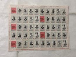 Tubercolosi 1976 - Foglio Completo 50 Bolli Chiudilettera - Erinnofilia