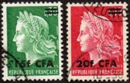 Réunion Obl. N° 384 - 385 Marianne De Cheffer - Oblitérés