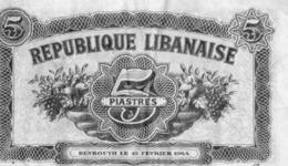 Republique Libanaise 5 Piastres 1944 - Libanon