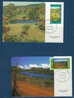 """Nle-Caledonie FDC YT 525 & 526 """" Paysages """" Cartes Postales 29.10.86 Nouméa - Briefe U. Dokumente"""