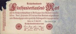 ALLEMAGNE 500000 MARK 1923 XF+(tache D'encre) P 92 - 1918-1933: Weimarer Republik