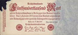 ALLEMAGNE 500000 MARK 1923 XF+(tache D'encre) P 92 - [ 3] 1918-1933 : República De Weimar