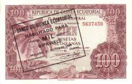 EQUATORIAL GUINEA P. 18 1000 B 1980 UNC - Equatoriaal-Guinea