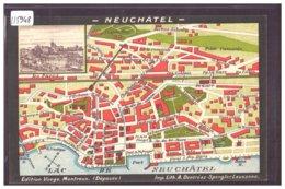 NEUCHATEL - PLAN DE LA VILLE - TB - NE Neuchâtel