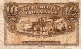 Republique Libanaise 10  Piastres 1944 A Circulé - Libanon