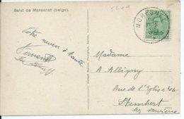 Zichtkaart Le Calvaire (Moresnet) Met OCB 137 - Afstempeling MORESNET - 1915-1920 Albert I.