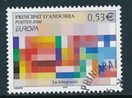 """ANDORRA (franz.Post ) Mi.Nr. 648 EUROPA CEPT """"Integration"""" 2006 - Used - 2006"""