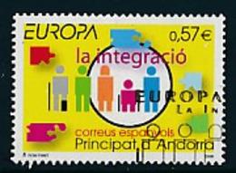 "ANDORRA (span.Post ) Mi.Nr. 333 EUROPA CEPT ""Integration"" 2006 - Used - Europa-CEPT"