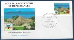 "Nle-Caledonie FDC YT 537 "" Mairie "" Enveloppe 23.5.87 MONT DORE - Briefe U. Dokumente"