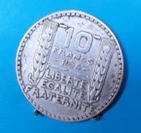 BT30 Pièce De 10 Francs - 1934 - TURIN Coté Strié - France
