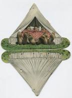 Bruxelles - Exposition 1910 - Carte à Système Représentant 3 Personnages Dans Une Tente - 12 Vues En Noir Et Blanc. RARE - Expositions Universelles