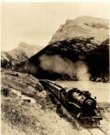 CANADIAN ROCKIES ALTA  RAILWAY TRAIN TREN CHEMIN DE FER 14*11CM Fonds Victor FORBIN 1864-1947 - Trenes