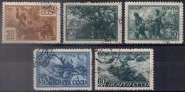 Russia 1943, Michel Nr 865-69, Used - 1923-1991 USSR