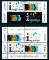 """BOSNIEN - HERZEGOWINA (kroatische Post Mostar ) Mi.Nr. 171-172, Block 8  EUROPA CEPT """"Integration"""" 2006 - Used - 2006"""