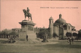 Cpa BARCELONA - Parque Monumento à Prim Y Cindadela - Barcelona
