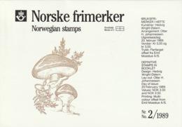 NORWAY 1989 Mushrooms: Presentation Pack UM/MNH - Norwegen