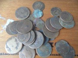LOT BRONZE FRANCE ITALIE (état Moyen) - Münzen & Banknoten