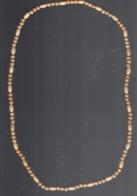 Ancien Collier De Perles De Bois (poids : 11 Gr. - Longueur 38 Cm) - Collane/Catenine