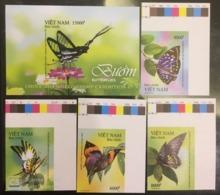 Viet Nam Vietnam MNH Imperf Stamps With Margin & A Souvenir Sheet 2019 : Butterfly (Ms1109) - Vietnam