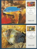"Nle-Caledonie FDC YT 551 & 552 "" Aquarium "" Cartes Postales 23.3.88 Nouméa - Briefe U. Dokumente"