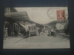 WISEMBACH - ARRET DEVANT L'AUBERGE - (CAFE-RESTAURANT BONNAFOUX - AUTOCAR ST-DIE A STE-MARIE-AUX-MINES) - Sonstige Gemeinden