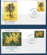 "Nle-Caledonie FDC YT 574 & 575 "" Flore "" Enveloppes 22.3.89 Nouméa - Briefe U. Dokumente"