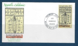 "Nle-Caledonie FDC YT 581 "" Art Indigène "" Enveloppe 27.9.89 Nouméa - Briefe U. Dokumente"
