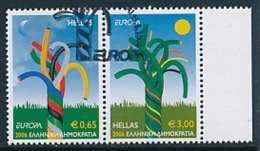 """GRIECHENLAND Mi.Nr. 2364-2365 A   EUROPA CEPT """"Integration"""" 2006 - Used - 2006"""