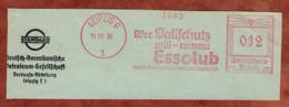 Ausschnitt, Absenderfreistempel, Deutsch-Amerikanische Petroleum-Gesellschaft, 12 Rpfg, Leipzig 1936 (80902) - Poststempel - Freistempel