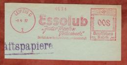 Ausschnitt, Absenderfreistempel, Deutsch-Amerikanische Petroleum-Gesellschaft, 8 Rpfg, Leipzig 1937 (80903) - Poststempel - Freistempel