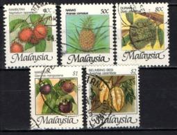 MALESIA - 1986 -  FRUTTI DELLA MALESIA - USATI - Malaysia (1964-...)