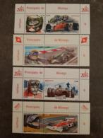 8 Timbres De Monaco Sur Les Pilotes Mythiques De Formule 1 - Cars