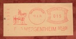 Ausschnitt, Absenderfreistempel, Ritter, Bad Mergentheim, 15 Rpfg, 1934 (80908) - Poststempel - Freistempel