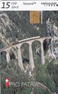 SWITZERLAND - Pro Patria Rhätische Bahn (Train),05/98 ,tirage 30.000, 10+5 Fr, Used - Zwitserland