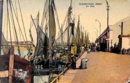 Zeebrugge (Môle) Le Port (animée, Colorisée, Coll. H Debloos) - Zeebrugge