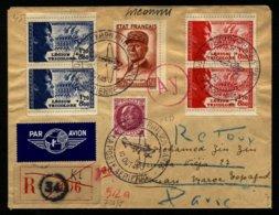 France Lettre Affr. N° 580 + 565(2) + 566(2) + 505 Càd 10 OCT 43 Pour Le Maroc - TTB Qualité - Frankreich