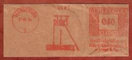 Ausschnitt, Absenderfreistempel, Ruhrkohle, 40 Rpfg, Magdeburg 1934 (80909) - Poststempel - Freistempel