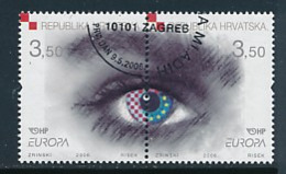 """KROATIEN Mi.Nr. 772-773   EUROPA CEPT """"Integration"""" 2006 - Used - 2006"""
