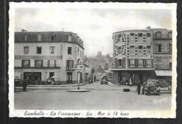 Cpsm 2220319 Lamballe La Campagne La Mer à 14 Kms , Traction Citroen , Hotel De La Gare , Giratoire , Hotel D'angleterre - Lamballe