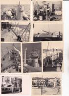 17 Photographies Marine National Pont Navires Personnages Bateaux Etc Certaine Situé ( Ref 266) - Guerre, Militaire