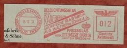 Ausschnitt, Absenderfreistempel, Saechsische Glasfabrik, 12 Rpfg, Ottendorf-Okrilla 1937 (80912) - Poststempel - Freistempel